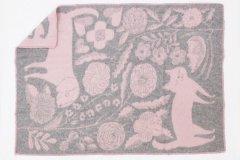 LAPUAN KANKURIT×鹿児島睦/ブランケットKOIRA JA KISSAローズ(130×180)【送料無料】