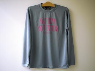 C.O.W Dry & UV L/SL Tシャツ(ライトグレー)