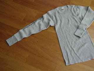 Rib Knit Thermal L/SL Tシャツ(グレー)
