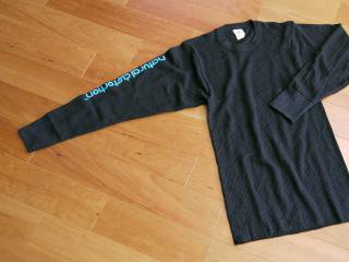 Rib Knit Thermal L/SL Tシャツ(ブラック)