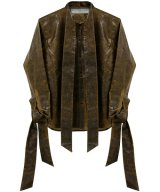 BARRAGÁN / バラガン - LEATHER SHIRT SCARF AND CUFFS (BROWN)