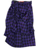 VAQUERA NYC / ヴァケラ - FREAKY WRAP SKIRT (PURPLE/BLK)<img class='new_mark_img2' src='//img.shop-pro.jp/img/new/icons2.gif' style='border:none;display:inline;margin:0px;padding:0px;width:auto;' />
