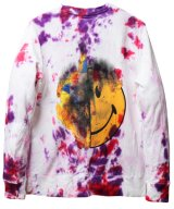 MADD LOUNGE / マッドラウンジ - TWO FACE INSIDE TWO FACE CREW SWEATSHIRTS (WHITE TIE-DYE)