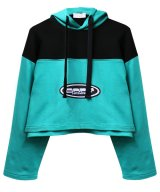 JULIA SEEMANN / ジュリアシーマン - BODY SENSATIONS CROPPED HOODIE (TURQUOISE)<img class='new_mark_img2' src='//img.shop-pro.jp/img/new/icons2.gif' style='border:none;display:inline;margin:0px;padding:0px;width:auto;' />