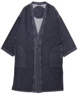 69 / シックスティーナイン - LONG CARDIGAN COAT (BLACK MEDIUM LIGHT WASH)<img class='new_mark_img2' src='//img.shop-pro.jp/img/new/icons2.gif' style='border:none;display:inline;margin:0px;padding:0px;width:auto;' />