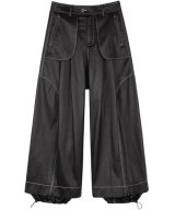 NUTEMPEROR / ナットエンペラー - WIDE PU LEATHER PANTS (BLACK)<img class='new_mark_img2' src='https://img.shop-pro.jp/img/new/icons55.gif' style='border:none;display:inline;margin:0px;padding:0px;width:auto;' />