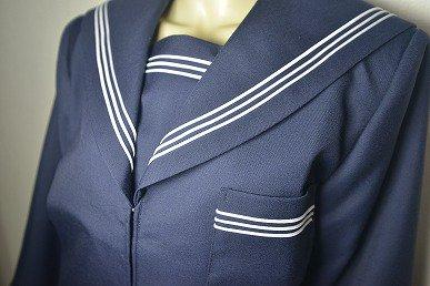 本物品質の紺セーラー服 蛇腹ラインを通販