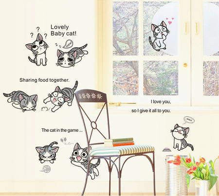 Lovely Baby Cat �ウォールステッカー