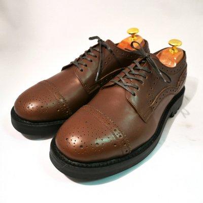 mythography �ʥߥ�����ե�����Straight Tip Semi Brogue Shoes Dark Brown