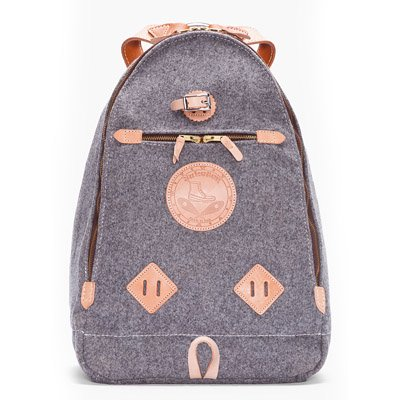 Yuketen�ʥ楱�ƥ�� Grey Heather Wool Triangle Backp��