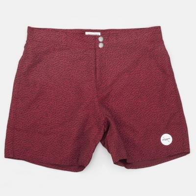 Saturdays Surf NYC(サタデーズサーフ)Notebook Print Board Shorts Red ※わけありプライス