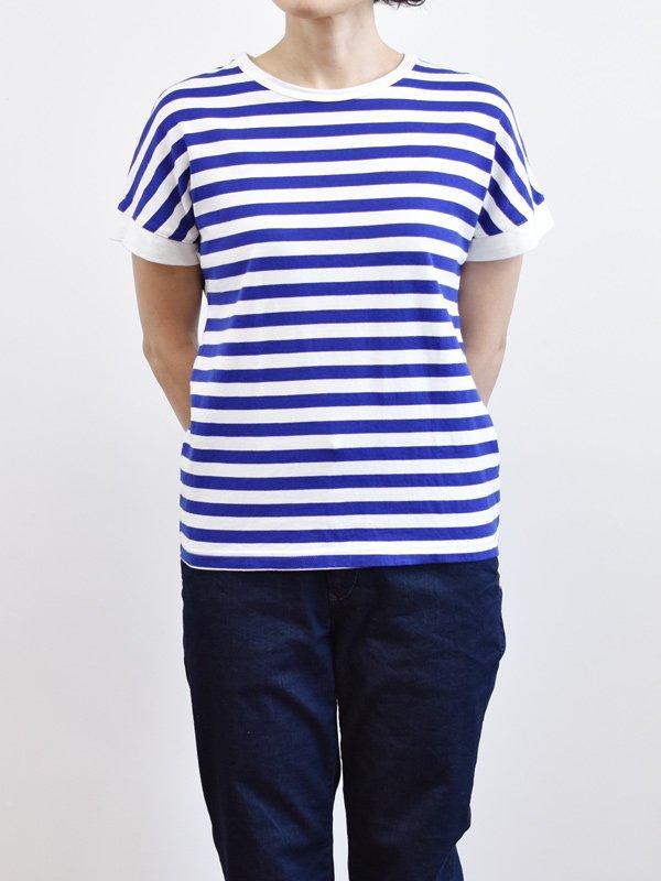 【予約受付】seasew. 40/2天竺ボーダードルマンスリーブTシャツ