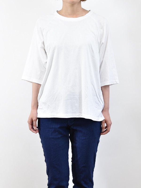 seasew. 100/1スーピマコンパクトコットンラグランスリーブTシャツ