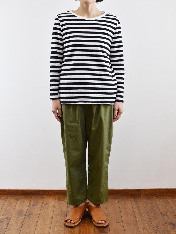 seasew. 40/2天竺ボーダー長袖Tシャツ