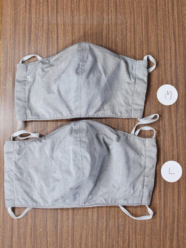 【予約受付】ノーズワイヤー・ポケット付き布マスク2枚セット