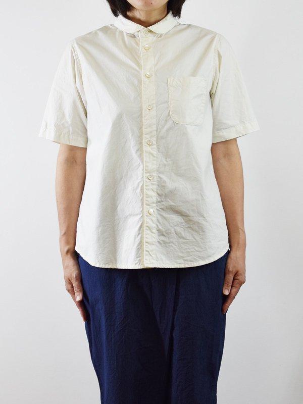【予約受付】seasew. 40/1タイプライターラウンドカラー半袖シャツ