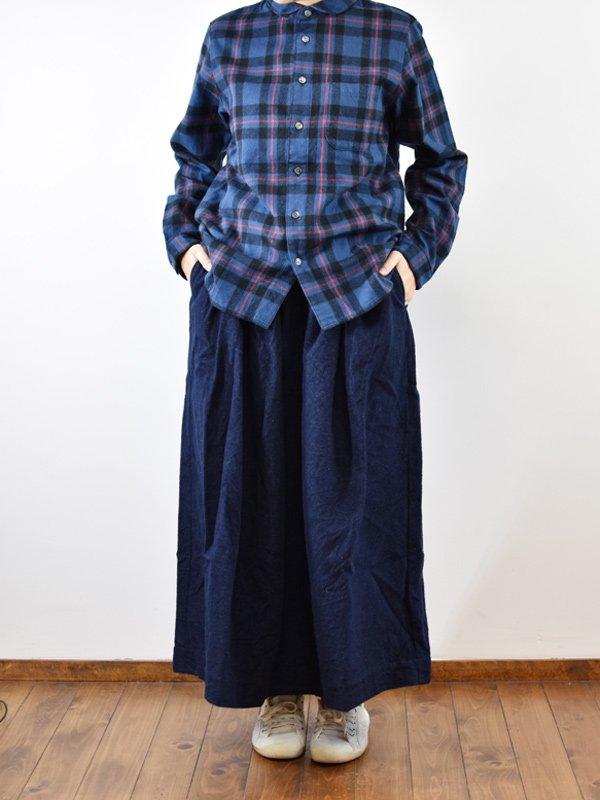16/1×20/2コットンフランネルタックバルーンスカート