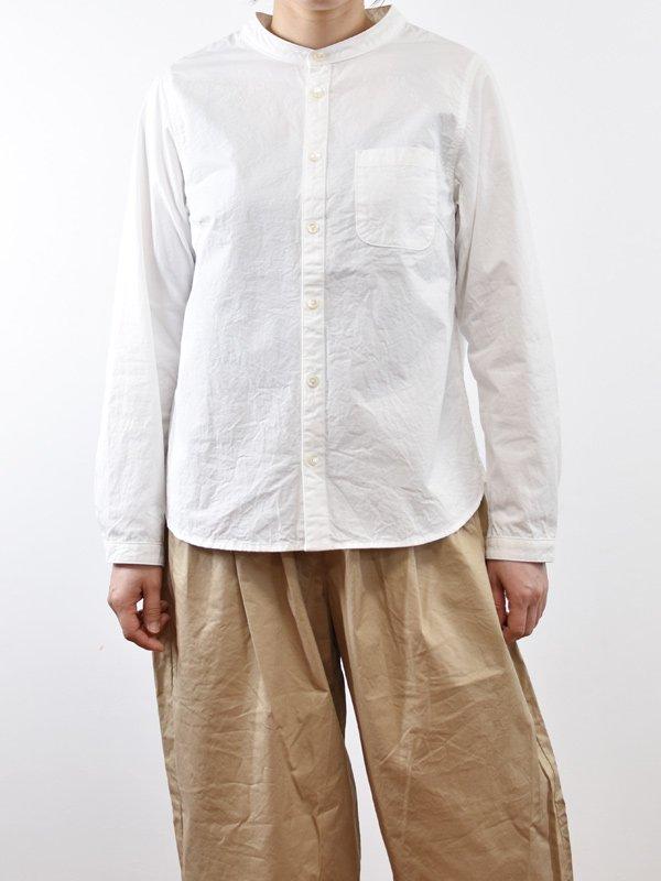 50/1×40/1高密度ツイルバンドカラーシャツ