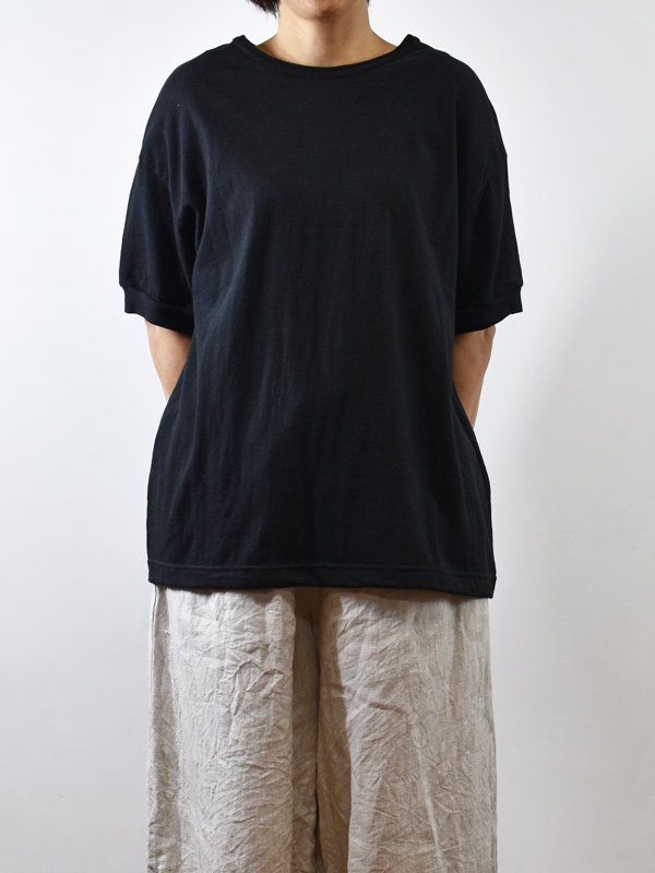 コットンヘンプ天竺リブ半袖Tシャツ