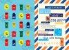 CAFE BON VOYAGE オリジナルポストカード  いろいろポスト / 国際郵便