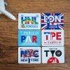 CAFE BON VOYAGEオリジナル 都市コードステッカー  パリ / ロンドン / 東京 / ニューヨーク / ホノルル / 台北