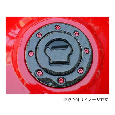 DCT09 カーボンタンクキャップカバー Buell 8穴用(Key付) その4