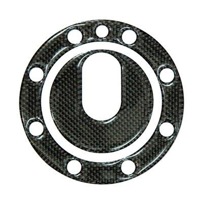 DCT09/2 カーボンタンクキャップカバー Buell 8穴用(Key無)