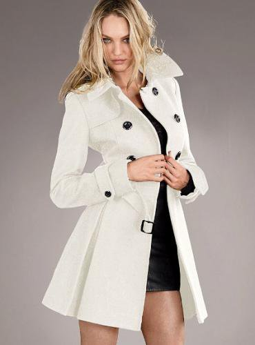 Victoria's Secret ヴィクトリアズ・シークレット Wool Trench Coat winter white