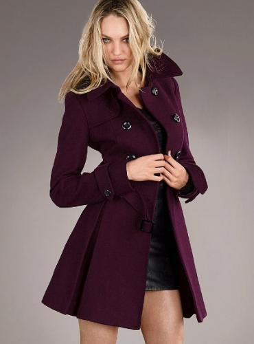 Victoria's Secret ヴィクトリアズ・シークレット Wool Trench Coat bordeaux beauty