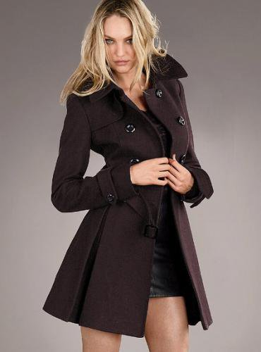 Victoria's Secret ヴィクトリアズ・シークレット Wool Trench Coat double chocolate