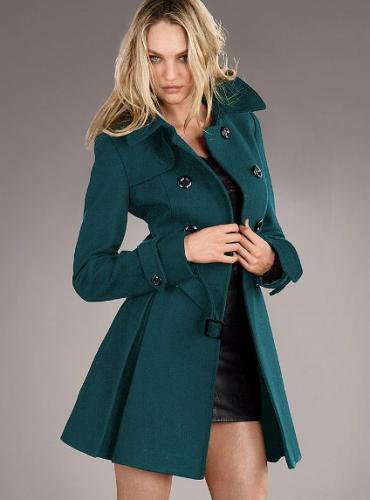 Victoria's Secret ヴィクトリアズ・シークレット Wool Trench Coat moroccan teal