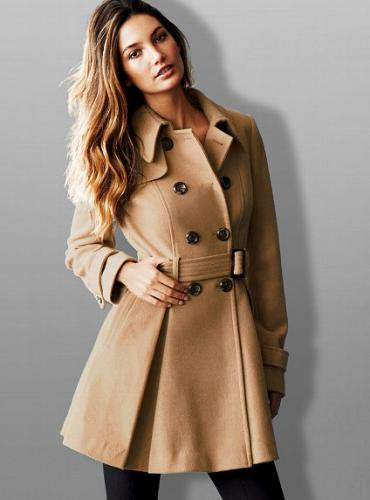 Victoria's Secret ヴィクトリアズ・シークレット Wool Trench Coat deep camel
