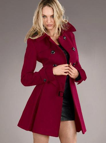 Victoria's Secret ヴィクトリアズ・シークレット Wool Trench Coat rojo red
