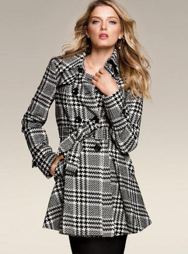 Victoria's Secret ヴィクトリアズ・シークレット Wool Trench Coat glen plaid