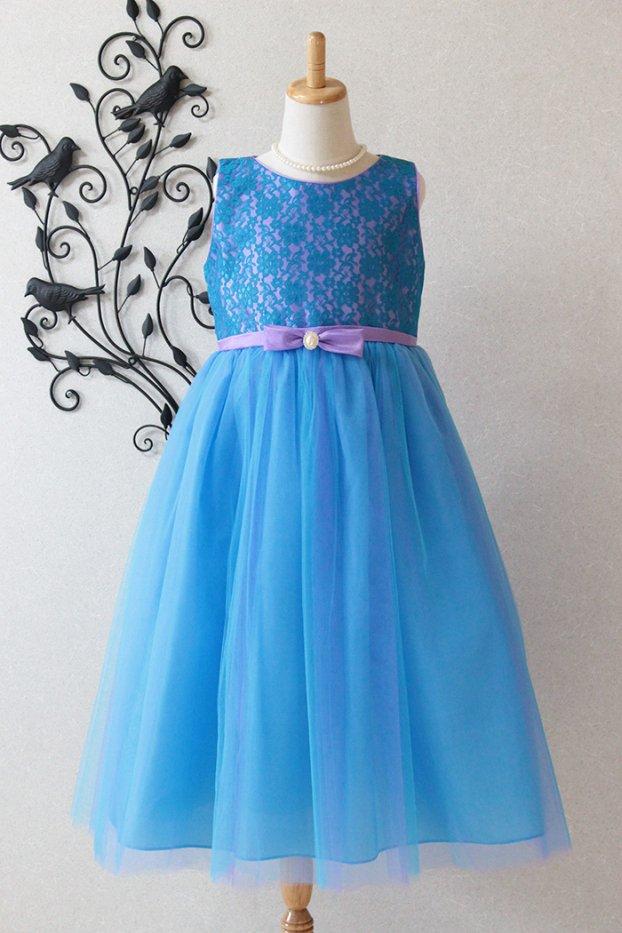 子供ドレス ピアノ発表会ドレス 6-1254(150cm)ブルー