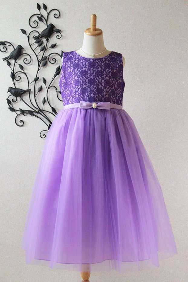 子供ドレス 発表会 結婚式 6-1254(150cm)パープル