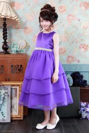 子供ドレス ピアノ発表会ドレス 5-334(150cm)パープル
