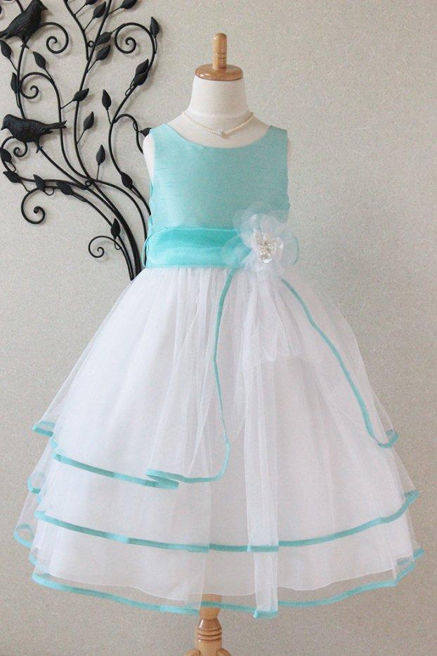 子供ドレス ピアノ発表会ドレス 6-1239B(120cm)ミント