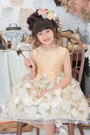 子供ドレス ピアノ発表会ドレス 1-365(130cm)ゴールド