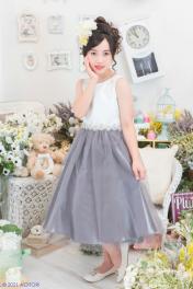 子供ドレス ピアノ発表会ドレス 12-212G(140cm)グレー