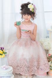 <img class='new_mark_img1' src='https://img.shop-pro.jp/img/new/icons47.gif' style='border:none;display:inline;margin:0px;padding:0px;width:auto;' />子供ドレス ピアノ発表会ドレス 15-246(120cm)ピンク【青い鳥】
