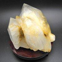 クル産ヒマラヤ水晶クラスター1204g・部分的にゴールデンヒーラー化した結晶です!写真現物をお届け