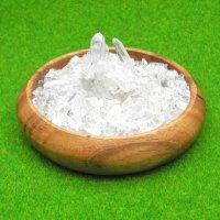 アーカンソー水晶付きパワーストーン浄化3点セット(アーカンソー産水晶クラスター+水晶さざれ石+ウッドトレイ)
