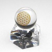フラワーオブライフ ロッククリスタル スフィア(水晶球)  20mm