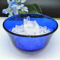 アーカンソー水晶付きパワーストーン浄化3点セット(アーカンソー産水晶クラスター+水晶さざれ石+フランス製ガラスボウル)