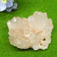 パルバティー産ヒマラヤ水晶クラスター172g・やわらかな透明感!写真現物をお届け