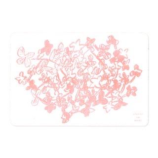 ポストカード・クローバーの森(ピンク)