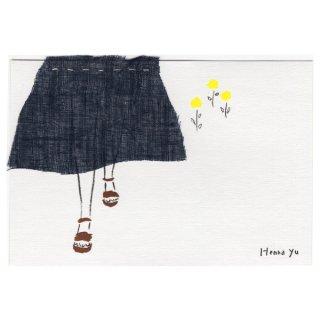 ポストカード・スカート(紺)