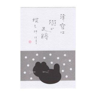 俳句ポストカード<冬のねこ>