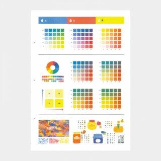 3色の混色見本カードセット(A)